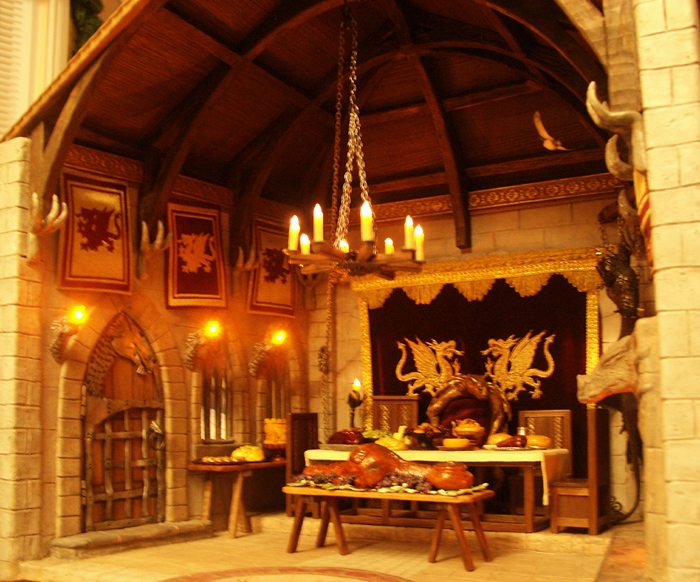 dragonthemed medieval castle dining hall